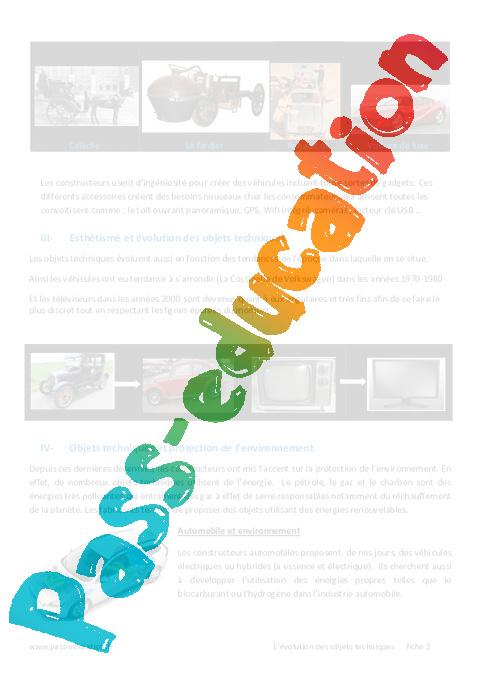 evolutions des objets et de leur besoin 6 me cours pass education. Black Bedroom Furniture Sets. Home Design Ideas