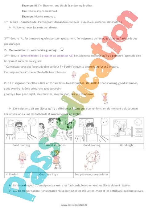 anglais - cm1 - tout le programme p u00e9riode 1