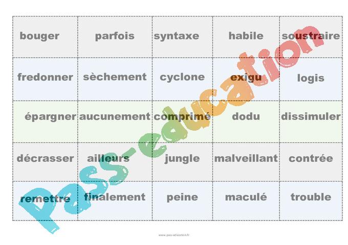 Synonymes Cm2 Fiche De Preparation Pass Education