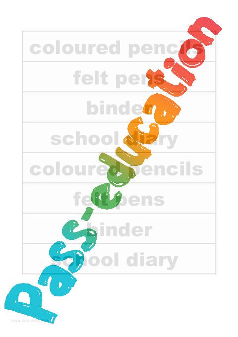 consignes de classe mat233riel scolaire cm2 anglais