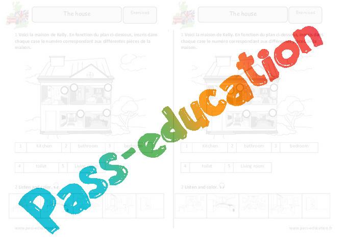 les pieces de la maison exercices pdf