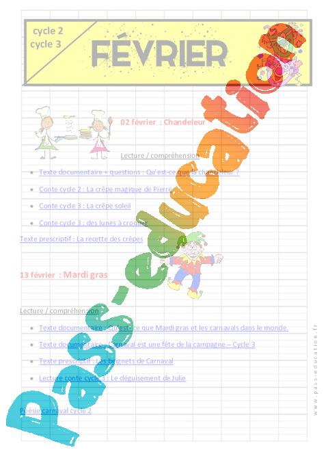Calendrier Pedagogique.Calendrier Pedagogique Pour Le Cycle 2 Et 3 Janvier