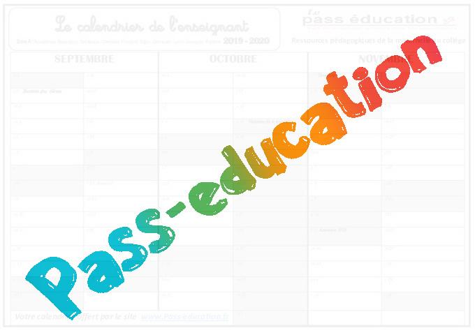 Calendrier Ps.Tout Pour La Rentree De L Enseignant 2019 2020 Ps Ms