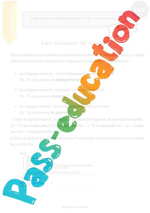 Coloriage Magique Registre De Langue.Je Distingue Les 3 Registres De Langue Familier Courant Soutenu