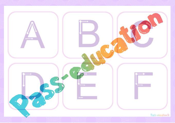 Apprendre à écrire Les Lettres De L Alphabet Gs Cp