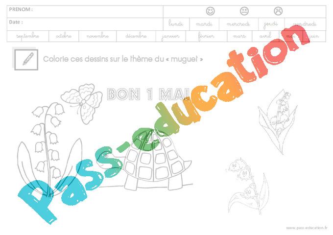 Coloriage Fevrier Ms Gs.Coloriage Muguet Gs Grande Section Pass Education