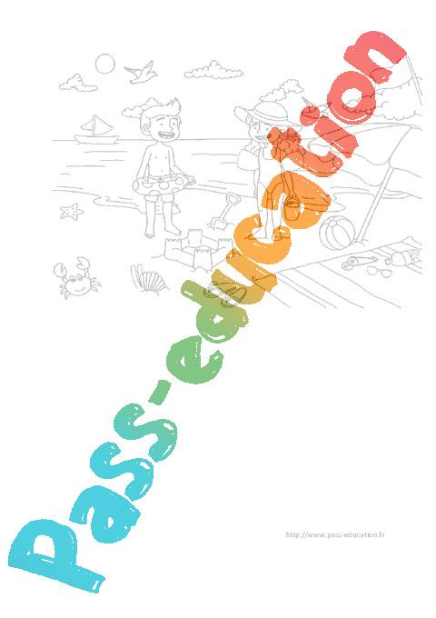 Coloriage A La Plage Ete Ps Ms Gs Pass Education