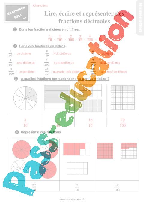 Exercices, révisions sur lire, écrire et représenter des ...