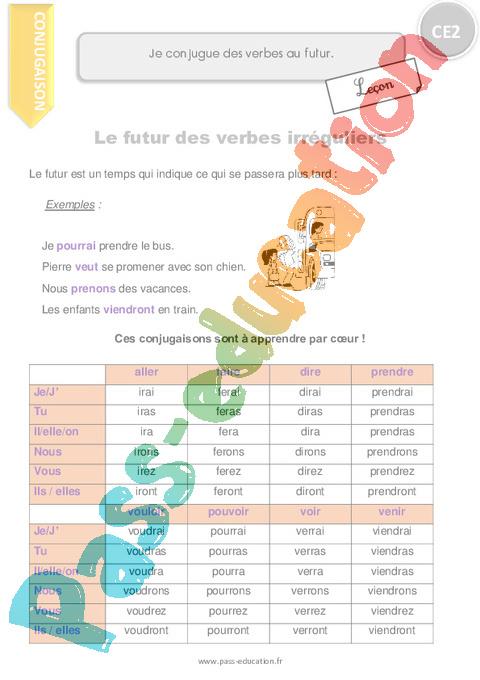 le on trace crite conjugaison ce2 cycle 2 pass education