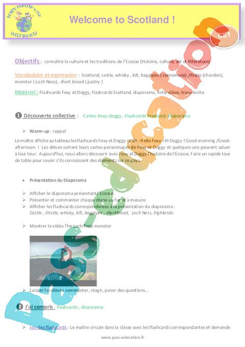 Exercice Civilisation - Anglais : CE1 - Cycle 2 - Pass Education