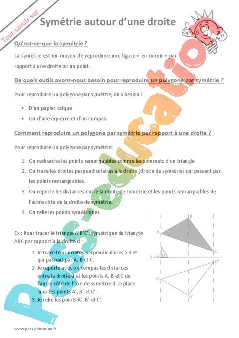 Géométrie : 6ème - Cycle 3 - Exercices cours évaluation ...