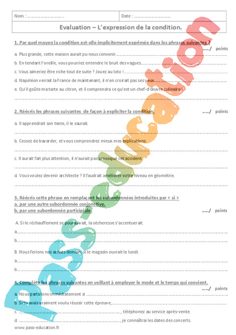 Grammaire 3eme Exercices Cours Evaluation Revision