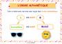 Affichage pour la classe Ordre alphabétique / Dictionnaire : CM2
