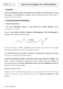 Cours Aspect macroscopique des transformations : Terminale