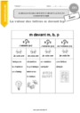 Leçon M devant m, b, p : CE1