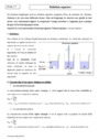 Cours Solution aqueuse : Seconde - 2nde