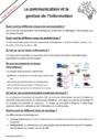 Cours et exercice : Communication et information : 6ème