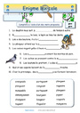 Leçon et exercice : Énigmes lexicales : CE1