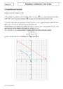 Cours et exercice : Equation cartésienne d'une droite : Première