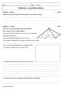Evaluation Géométrie : 4ème