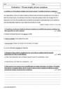 Evaluation Grammaire : 4ème
