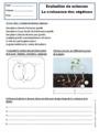 Evaluation Les stades du développement d'un être vivant : CE1