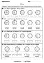 Evaluation Lire l'heure, horloge : CP