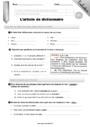 Evaluation Ordre alphabétique / Dictionnaire : CM1