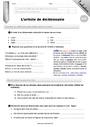 Evaluation Ordre alphabétique / Dictionnaire : CM2