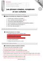 Evaluation Phrase simple et complexe : CM2