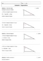 Evaluation Trigonométrie : 3ème