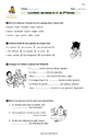 Exercice Conjugaison : CM1