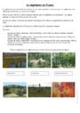 Exercice Relief, climat et paysage en France : CM2