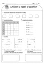 Exercice Tables d'addition : CE1