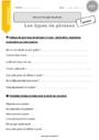 Exercice Types de phrases : CE2