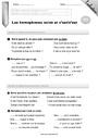 Leçon et exercice : Homonymes, homophones : CE2