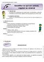 Leçon et exercice : Monde du vivant : CE1