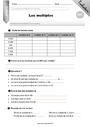 Multiples : CM1 - Cycle 3 - Exercice évaluation révision leçon - Pass Education