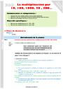 Leçon et exercice : Multiplication : CM1