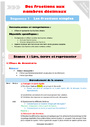 Séquence - Fiche de préparation Décimaux : CM1