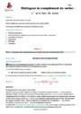 Séquence - Fiche de préparation Grammaire : CM1