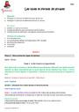Séquence - Fiche de préparation Grammaire : CM2