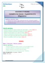 Séquence - Fiche de préparation Grandeurs et Mesures : CE1