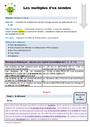 Séquence - Fiche de préparation Multiples : CM1