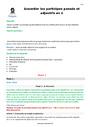 Séquence - Fiche de préparation Participe passé : CM1