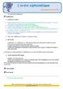 Révision, soutien scolaire - Ordre alphabétique / Dictionnaire : CE2