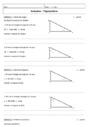 Cours et exercice : Trigonométrie : 3ème