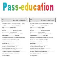 Conjuguer Le Verbe Etre Au Present Exercices 2eme Primaire Pass Education