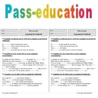 Etre Avoir Present Exercices Corriges 3eme Primaire Pass Education