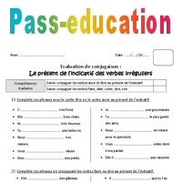 Present Des Verbes Irreguliers Bilan 4eme Primaire Pass Education